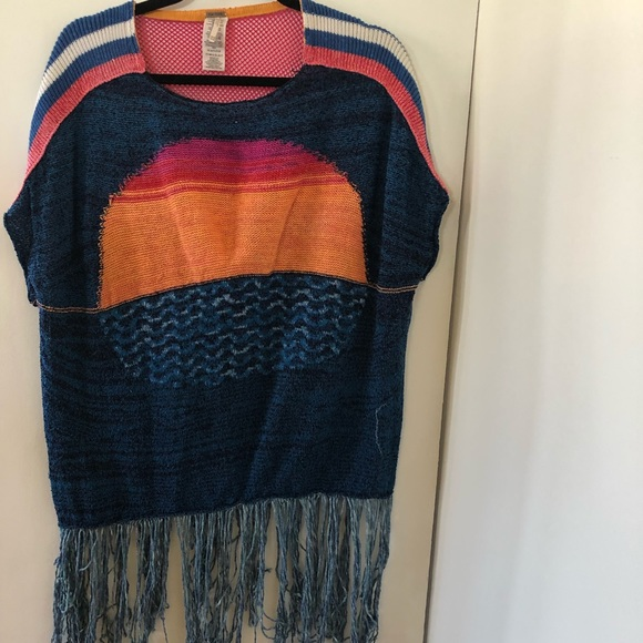 Free people poncho swimsuit cover up